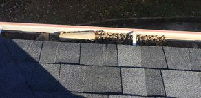 Garbage Left in Gutters by Previous Roofer Henrico Roofing Henrico, VA
