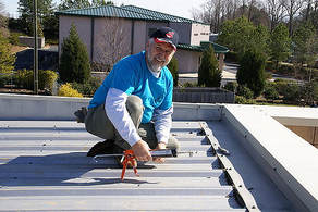 Installing a Flat Metal Roof Henrico Roofing VA