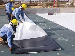 Using Adhesive for TPO Roof Install Henrico Roofing VA